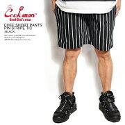COOKMANクックマンCHEFSHORTPANTSPINSTRIPET/C-BLACK-メンズショートパンツショーツハーフパンツパンツシェフパンツイージーパンツストリートおしゃれかっこいいカジュアルファッションcookman
