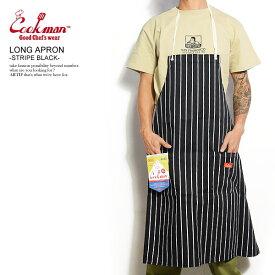 COOKMAN クックマン LONG APRON -STRIPE BLACK- メンズ エプロン ロングエプロン ストリート おしゃれ かっこいい カジュアル ファッション cookman