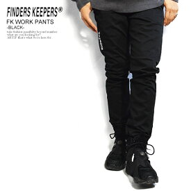 FINDERS KEEPERS ファインダーズキーパーズ FK-WORK PANTS -BLACK- 秋 冬 メンズ パンツ ワークパンツ ストレッチ 送料無料 おしゃれ かっこいい カジュアル ファッション ボトムス 秋冬 秋服 秋物 冬服 冬物 finderskeepers