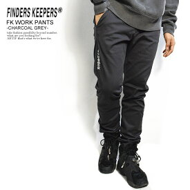FINDERS KEEPERS ファインダーズキーパーズ FK-WORK PANTS -CHARCOAL GRAY- 秋 冬 メンズ パンツ ワークパンツ ストレッチ 送料無料 おしゃれ かっこいい カジュアル ファッション ボトムス 秋冬 秋服 秋物 冬服 冬物 finderskeepers