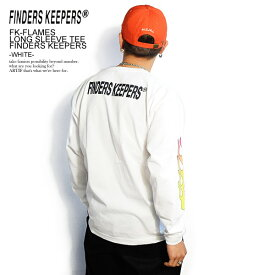 FINDERS KEEPERS ファインダーズキーパーズ FK-FLAMES LONG SLEEVE TEE FINDERS KEEPERS -WHITE- 春 夏 メンズ Tシャツ 長袖 長袖Tシャツ tシャツ ロンT 送料無料 おしゃれ かっこいい カジュアル ファッション トップス ストリート 春夏 春服 春物 夏服 夏物 finderskeepers