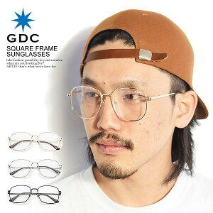 GDC ジーディーシー SQUARE FRAME SUNGLASSES メンズ サングラス スクエアサングラス 眼鏡 伊達メガネ メタルフレーム アクセサリー おしゃれ かっこいい カジュアル ファッション ストリート gdc