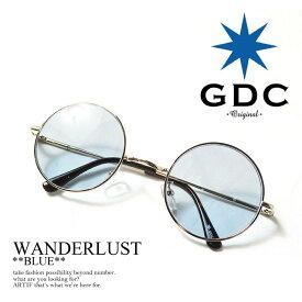 GDC ジーディーシー WANDERLUST GGDC gdc メンズ レディース 眼鏡 サングラス 丸メガネ wanderlust ストリート系 ファッション おしゃれ 丸眼鏡 丸めがね ARTIF シルバー フレーム アクセサリー メンズファッション レディースファッション|グラサン ブランド ブルーレンズ