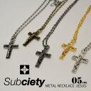 SUBCIETY サブサエティ METAL NECKLACE -JESUS- 10155 102-94067 subciety サブサエティー メンズ ネックレス アクセ…