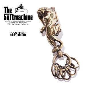 SOFTMACHINE ソフトマシーン PANTHER KEY HOOK softmachine メンズ キーチェーン キーリング キーフック アクセサリー 小物 パンサー おしゃれ かっこいい ブラス 真鍮 ゴールド 金 送料無料 ストリート