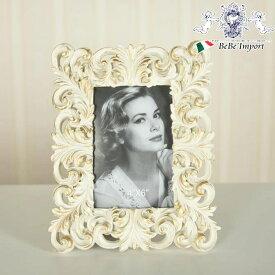 アンティークデコフォトフレームWH ホワイト 白 フォトスタンド 写真立て インテリア雑貨 アンティーク調 ヨーロピアン おしゃれ かわいい 雑貨