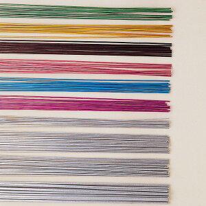カラーアルミ針金 130本セット 500mm 【 工作 装飾 針金 素材 】