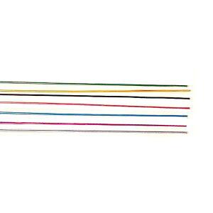 カラーアルミ針金 7色 各1本 7本組 500mm 【 工作 装飾 針金 素材 】