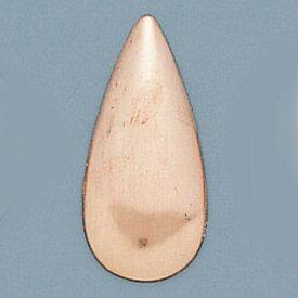 [ ゆうパケット可 ] 銅板 丹銅板 アラカルト しずく型 28x16mm 【 工芸 ガラス 七宝焼 七宝 】