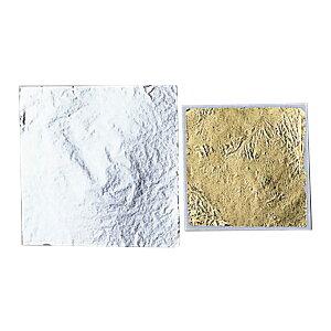 [ メール便可 ] 銀箔 厚口 8.0〜10ミクロン 150mm角 【 工芸 ガラス 七宝焼 箔 】