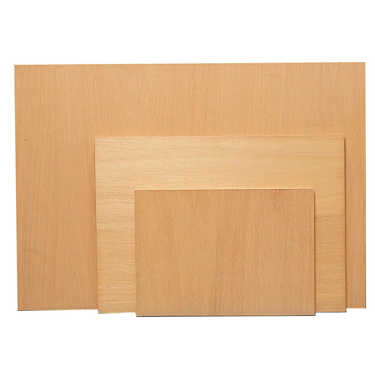 [ ゆうパケット可 ] 木製パネル ベニヤ板張 A4 【 パネル 木製 展示 描画用紙 】