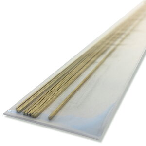 [ メール便可 ] 真鍮角線 1mm角x300mm 10本 【 装飾 針金 素材 】