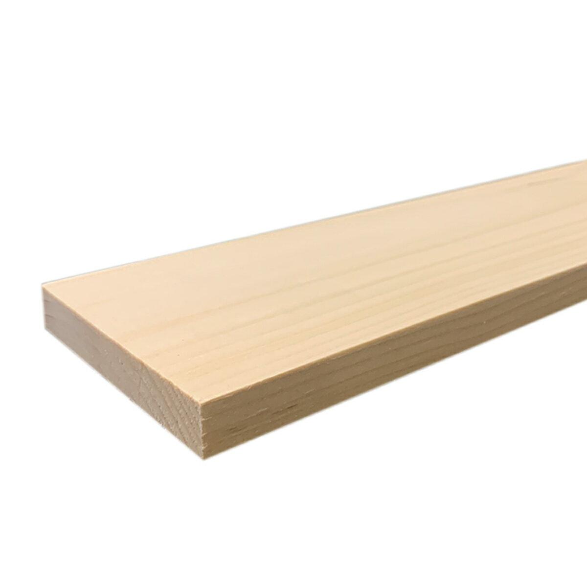 えぞ松板 四面プレーナー仕上げ 14x90x910mm 【 木材 DIY 手作り 木工 板 パイン材 】
