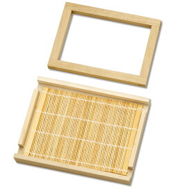 紙すき木枠 すだれセット 木製枠 はがき判 【 紙作り 紙漉き 手すき 紙すき 手漉き 】