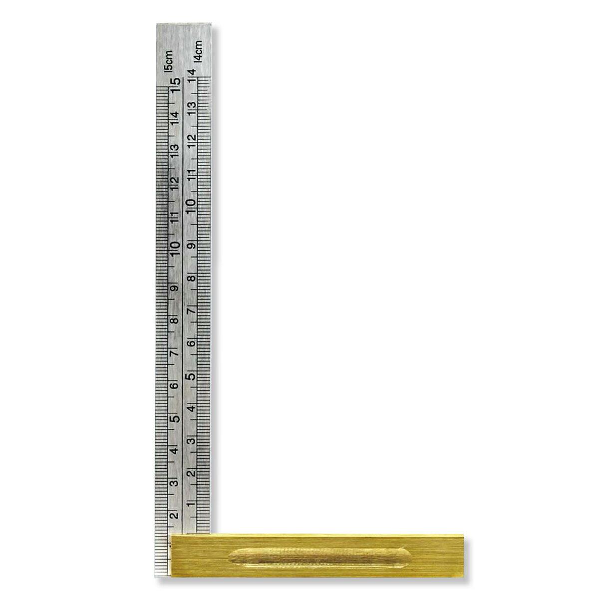 直角定規 スコヤ 150mm 目盛付き IS型 ステンレス製 【 差金 定規 】