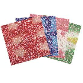 [ メール便可 ] クラサワ 折り紙 しぼり染風千代紙うらら 150mm角 4柄各10枚 P0110