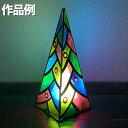 プッシュステンド 光のツリー LEDライト付 1セット 工作キット