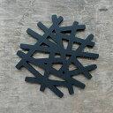 branch シリコン 鍋敷き 鳥の巣 枝 tree ブラック 黒 ポットコースター ポットマット ポットスタンド 【art of black】北欧 モノトーン プレゼント ギフト ラッピング