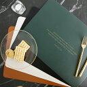 レザー ランチョンマット プレイスマット 43cm×30cm ホワイト ブラック ブラウン グリーン 白 黒 茶 緑 合皮【art of black】