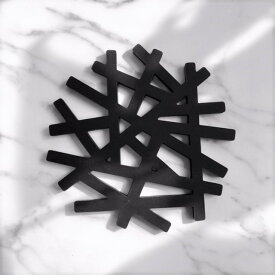 ネコポス送料無料 branch シリコン 鍋敷き 鳥の巣 枝 tree ブラック 黒 ポットコースター ポットマット ポットスタンド【art of black】