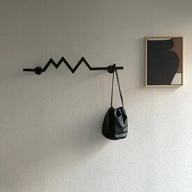 アイアン バー ハンガー ブラック 壁飾り ウォールデコレーション 【art of black】