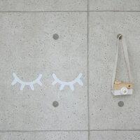 送料無料!!まつげウォールステッカー16×9.5cmシールまつ毛【artofblack】キッズルームリビングベビー北欧子供部屋赤ちゃんホワイトピンクブラックゴールドプレゼントギフトアートオブブラック