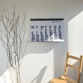 2020年 モノトーン カレンダー 75cm×55cm 壁掛け 【art of black】