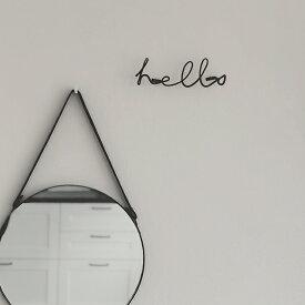 アイアン ウォールデコレーション ハンガー メッセージ 壁飾り ブラック 黒 【art of black】