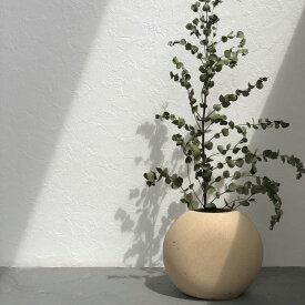 ドライフラワー用 フラワーベース 花瓶 丸型 15×17cm 【art of black】