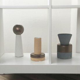 陶器 マットブラウン デザイン フラワーベース 花瓶 グレー ベージュ ホワイト 白 【art of black】