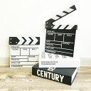 ディスプレイ用カチンコ 小サイズ 【art of black】Clapperboard 記念 Anniversary ウエルカムボード インテリア ウエディング ホワイト/ブラック