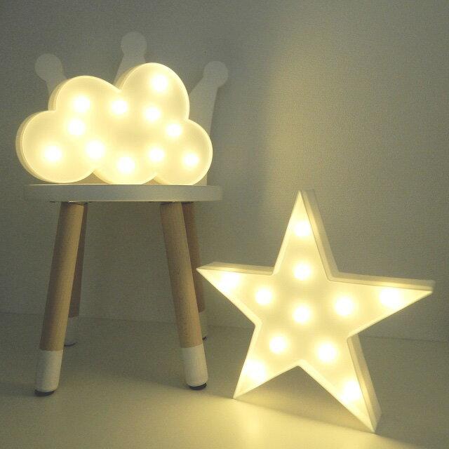 LEDライト 星 雲 ホワイト 置物 壁掛け 単3電池2本使用 スター クラウド【art of black】