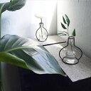 アイアン ワイヤーポットフレーム 黒 ブラック フラワーベース 花瓶【art of black】