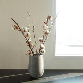 陶器 フラワーベース スカラップ 花瓶 ホワイト グレー【art of black】