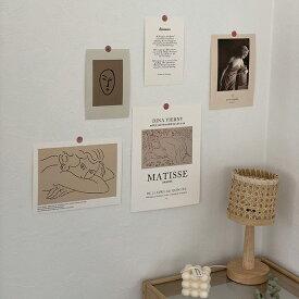 ネコポス送料無料 Henri Matisse アンリ・マティス ポストカード 5枚セット シール付き 【art of black】