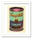 【アンディ・ウォーホル額装ポスター】キャンベルスープ缶 1965年(緑と紫)(320×390×15mm)
