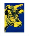 【ウォーホル アートポスター】牛1971年(青と黄)【281×358mm】