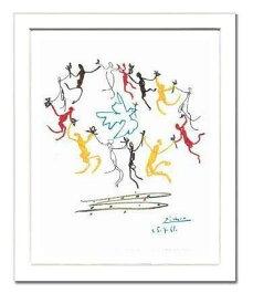 【ピカソ額装ポスター】ダンス(320×390×15mm) -おしゃれインテリアに-