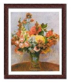 【ルノアール額装ポスター】花瓶の花(440×540×13mm)