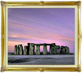 Stone henge F20サイズ 【油絵 直筆仕上げ絵画】【額縁付】 油彩 風景画 オリジナルインテリア絵画 風水画 インテリアアート絵画 20号
