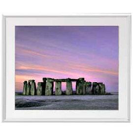 Stone henge アートフレーム:色シルバー サイズL 641×531mm 【油絵 直筆仕上げ絵画】【布キャンバス・額表面保護板】 油彩 風景画 オリジナルインテリア絵画 風水画