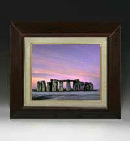 Stone henge F3サイズ 【油絵 直筆仕上げ絵画】【額縁付】 油彩 風景画 オリジナルインテリア絵画 風水画 420×368mm 送料無料