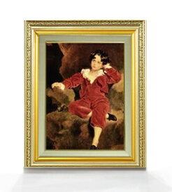 トーマス・ローレンス ランプトン少年像 F4  【油絵 直筆仕上げ 複製画】【額縁付】 絵画 販売  4号 油彩 人物画 477×390mm 送料無料