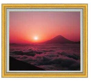 富士山 (1) F20サイズ 【油絵 直筆仕上げ】【額縁付】 油彩 風景画 オリジナルインテリア絵画 風水画 ゴールド額縁他各種 887×766mm 送料無料