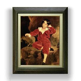 トーマス・ローレンス ランプトン少年像 F6  【油絵 直筆仕上げ 複製画】【額縁付】 絵画 販売  6号 油彩 人物画 556×465mm 送料無料
