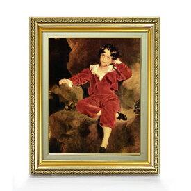 トーマス・ローレンス ランプトン少年像 F6  【油絵 直筆仕上げ 複製画】【額縁付】 絵画 販売  6号 油彩 人物画 554×463mm 送料無料