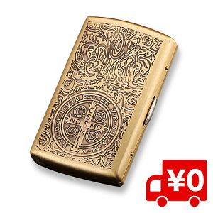 コンスタンティン風 アンティーク シガーケース シガレットケース ゴールド シガレット たばこ 入れ ケース 収納 プレゼント 送料無料