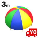 3m 4色 バルーン プレイパラシュート 幼稚園 保育園 運動会 親子 子供 こども 幼児 児童 カラフル 大人数 園児 教室 …