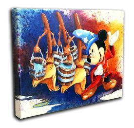 ディズニー/ミッキーマウス「ソーサラー・ミッキー・マジカル・マーチ」作品証明書・展示用フック付 限定1500部キャンバスジークレ【インテリア】【アート】【Disney】【絵画インテリア】