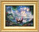 ディズニー/トーマス・キンケード「塔の上のラプンツェル」作品証明書・展示用フック付キャンバスジークレ【インテリ…